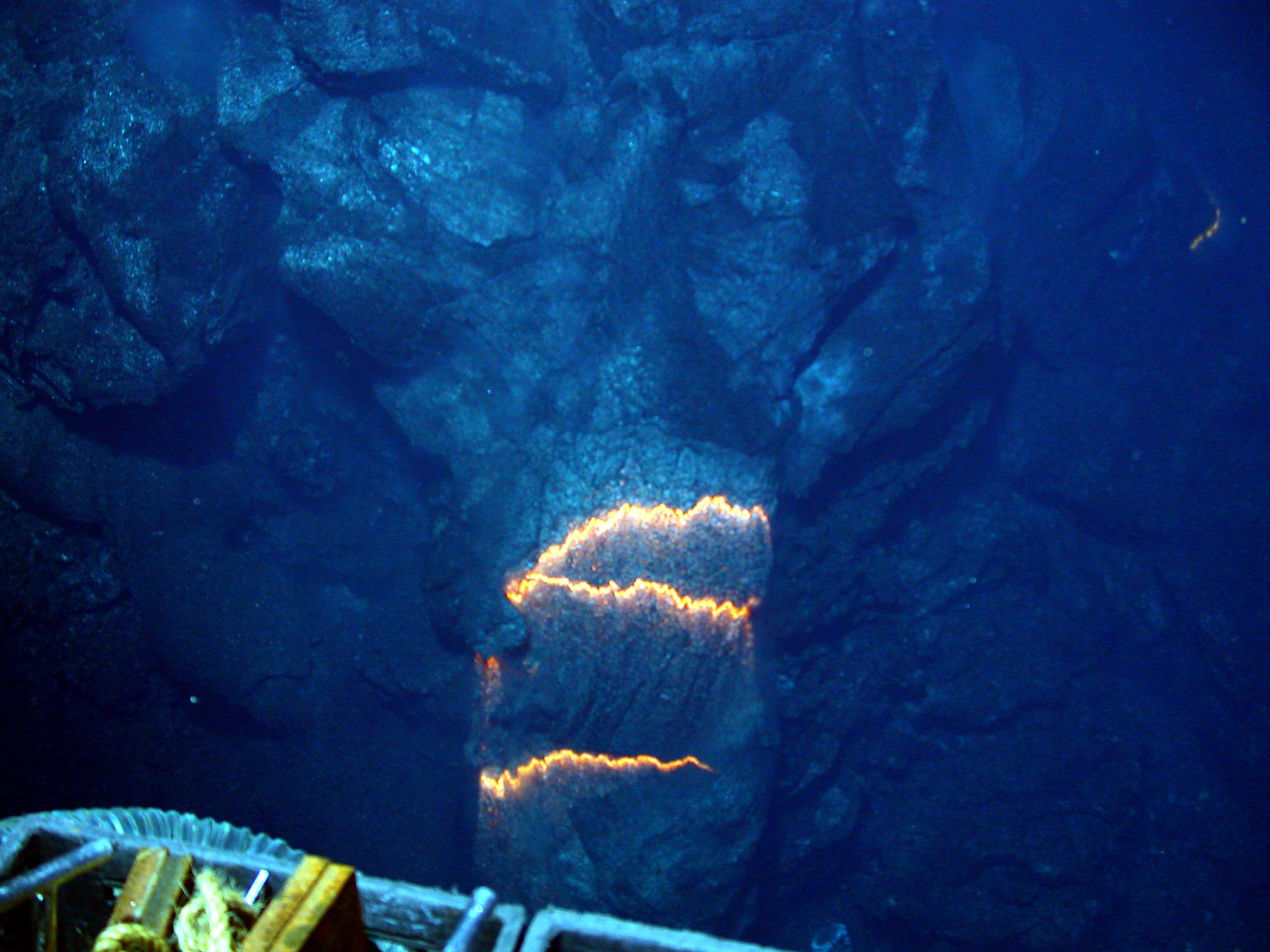 podwodny wulkan